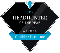 Headhunter of the year 2017 - Winner Candidate Experience